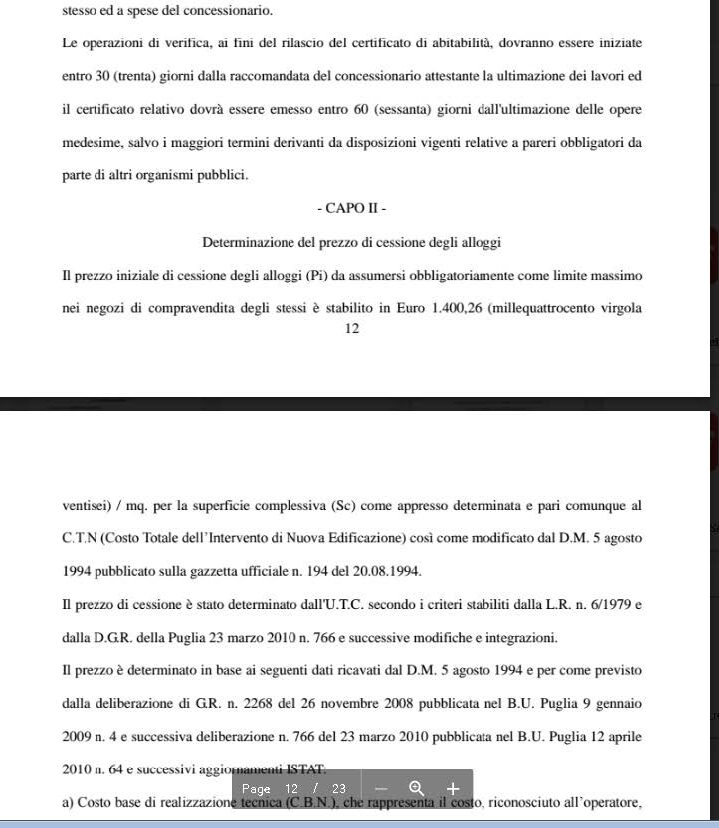 Comune di Casamassima (Bari) , allegato alla delibera n.03 del 20 Gennaio 2015